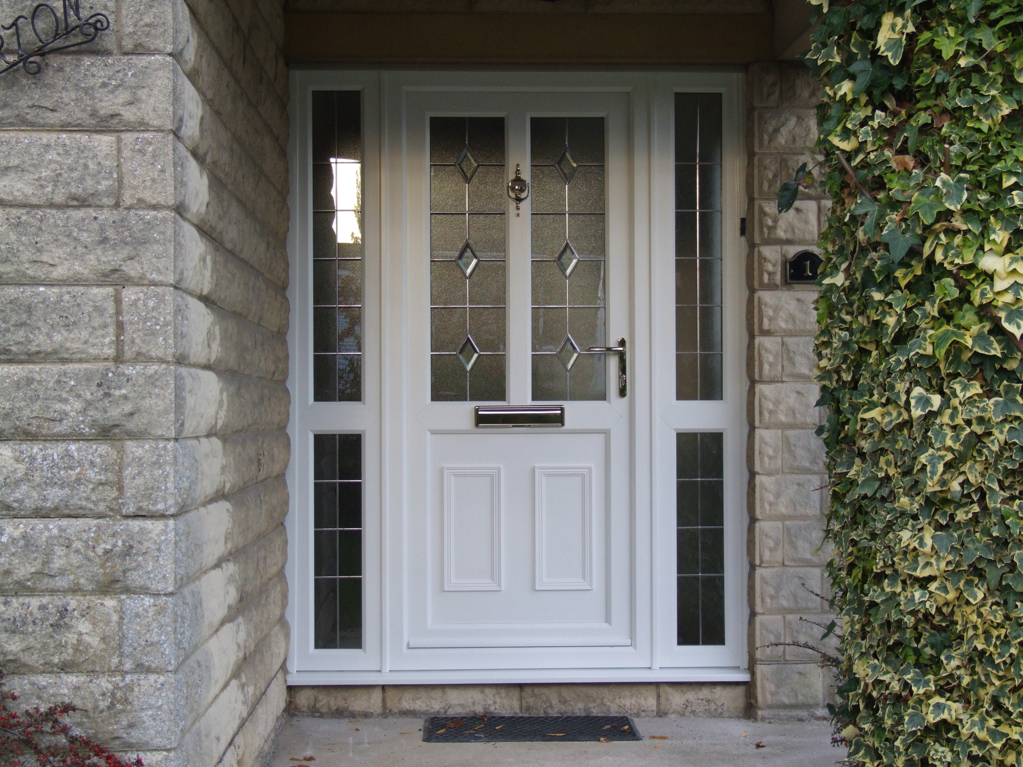 U003cpu003eWhite PVCu Front Door And Side Panels With Coupling Mullions,  Manufactured And